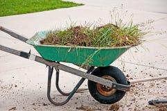 Old Broken Wheelbarrow Stock Photo