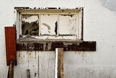 Old Broken Window Royalty Free Stock Photo