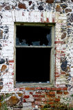 Old broken window. The Old broken glass window Royalty Free Stock Photo