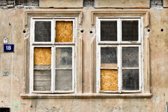 Old broken windows Royalty Free Stock Image