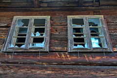 Old broken windows Stock Image