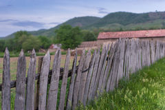 Old broken wood fence Stock Photography