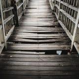 Old and broken wooden bridge Stock Photography