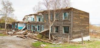 Old broken wooden building Stock Image
