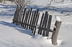 Old broken wooden fence Royalty Free Stock Photography