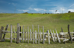 Wooden fences Royalty Free Stock Photo