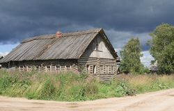 Old broken wooden house Stock Images