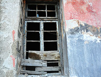 Old broken wooden window Royalty Free Stock Images