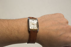 Old broken wrist watch. Royalty Free Stock Photography