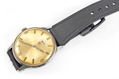 Old broken wristwatch Stock Images