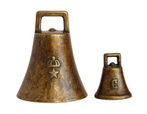 Old bronze bells Royalty Free Stock Photo