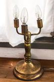 Old bronze candlestick. In home Royalty Free Stock Photography