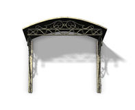 Old bronze canopy. On the white background Royalty Free Stock Image