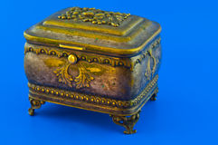 Old bronze casket Royalty Free Stock Photos