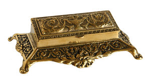 Old bronze casket Royalty Free Stock Image