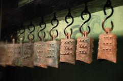 The old bronze chimes. Gansu province museum of old bronze chimes,in China Stock Photos