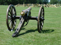 Old bronze civil war canon Stock Images