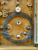 Old bronze clock mechanism Stock Photos