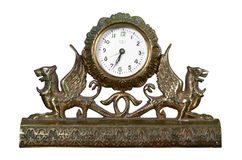 Old bronze clock Royalty Free Stock Photos