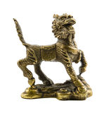 Old bronze dragon. Defender home and bringing good luck. Feng Shui Stock Photo