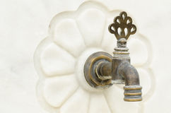 Old bronze faucet Stock Photography