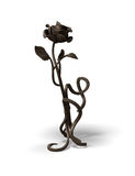 Old bronze rose Stock Images