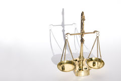 Old bronze scale (with weights) Stock Image