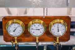 Old bronze ship instruments Royalty Free Stock Photos
