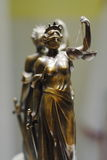 Old bronze statue of Justice Stock Images
