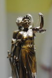 Old bronze statue of Justice Stock Image