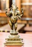 Old bronze statuette of hindu God Ganesha Stock Images