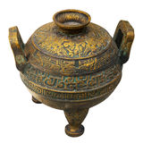 Old bronze vessel Stock Image