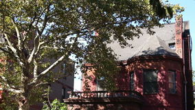 Old Brooklyn Homes Sunshine Trees Shade stock video footage