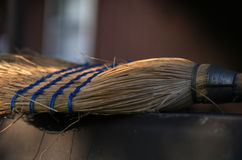 Old broom background Royalty Free Stock Photo