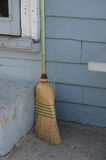 Old broom by building Royalty Free Stock Photo
