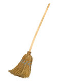 Old broom with clipping path Royalty Free Stock Photography