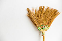 Old broom put on the wall Stock Images