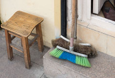Old brooms Royalty Free Stock Image