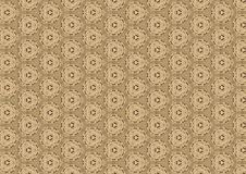 Old Brown Antique Lace Pattern. An antique lace quilt pattern made with real antique lace fabric details ideal as a background, layer or texture Stock Photos