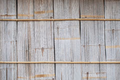 Old brown bamboo wall Royalty Free Stock Image