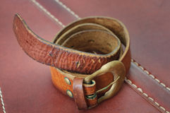 Old brown belt Royalty Free Stock Photography