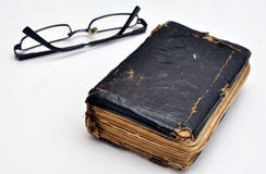 Old book and glasses Royalty Free Stock Image