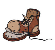 Old Brown Boot Royalty Free Stock Images