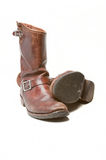 Old brown boots. A pair of well worn brown leather boots Stock Image