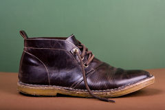 Old brown boots Royalty Free Stock Images