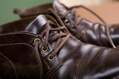 Old brown boots Stock Photo