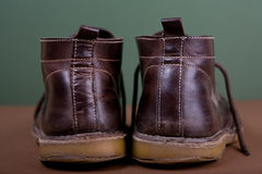 Old brown boots Stock Photography