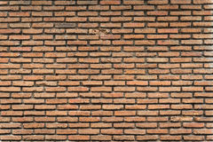 Old brown brick wall Royalty Free Stock Images