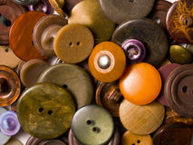 Old brown buttons Stock Photography