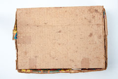 Old brown cardboard box is closed Royalty Free Stock Images